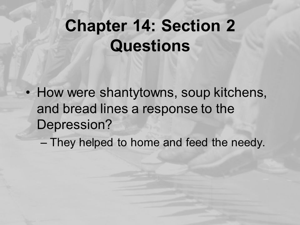 Chapter 14: Section 2 Questions
