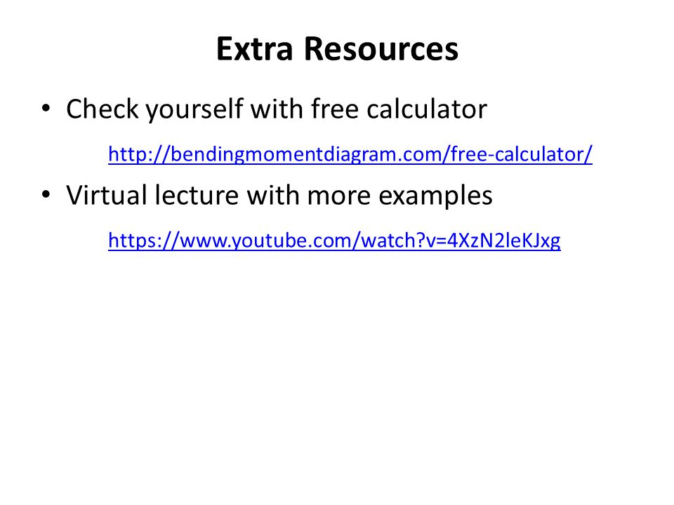 Extra Resources Check yourself with free calculator