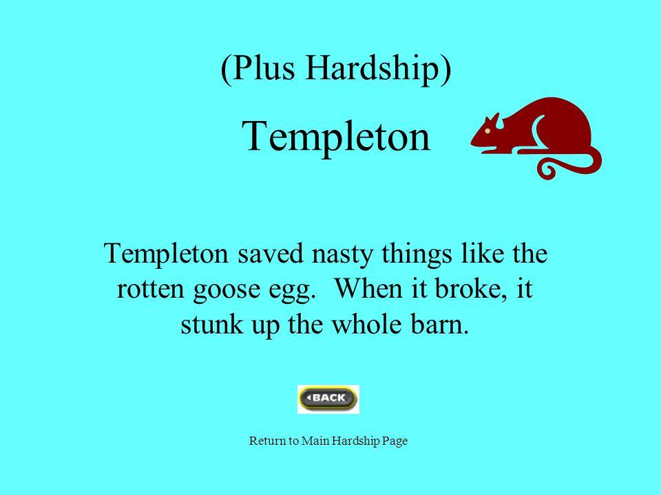 (Plus Hardship) Templeton
