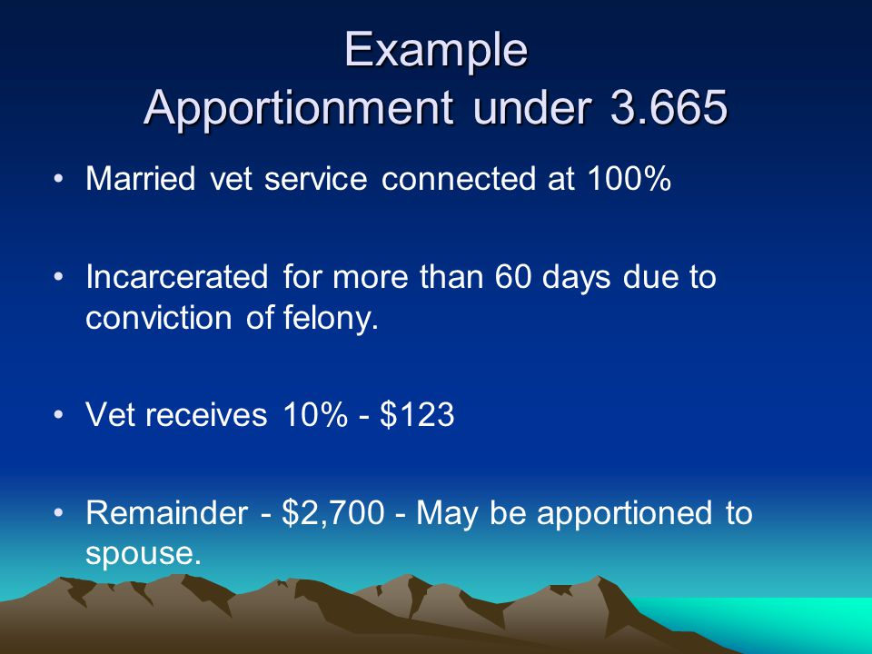 Example Apportionment under 3.665