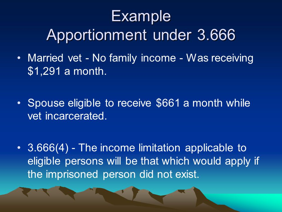 Example Apportionment under 3.666
