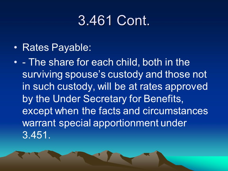 3.461 Cont. Rates Payable: