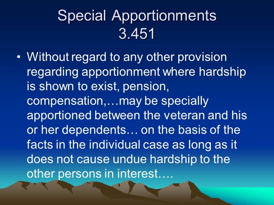 Special Apportionments 3.451