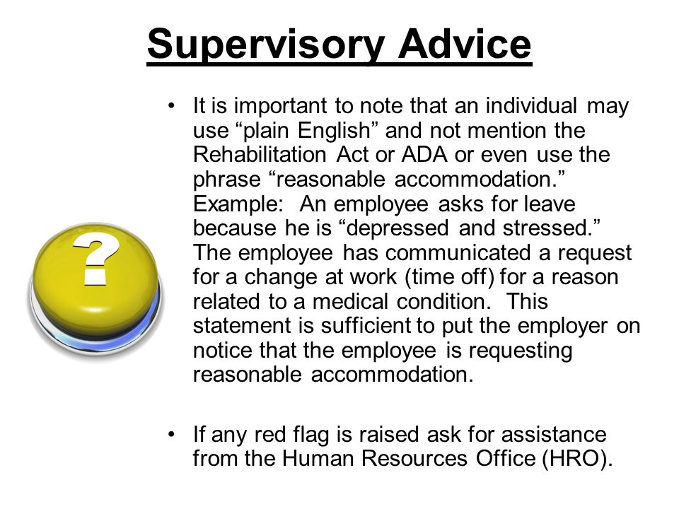 Supervisory Advice