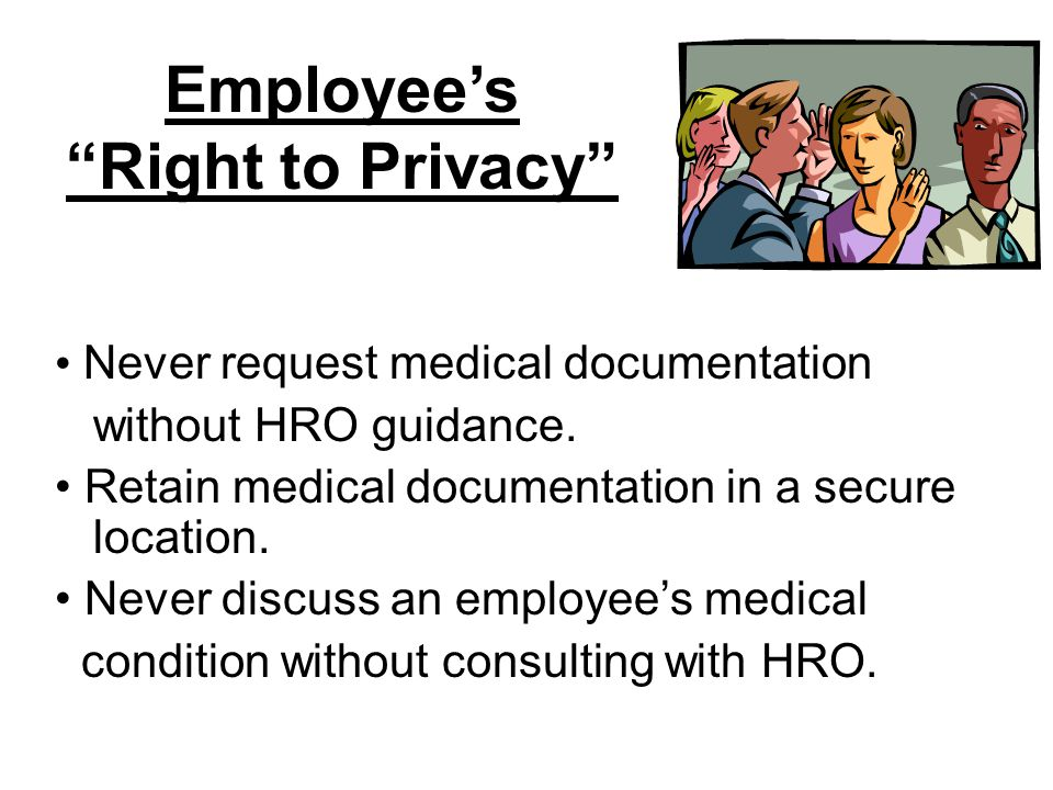Employee's Right to Privacy