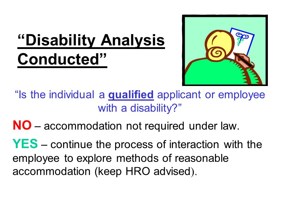 Disability Analysis Conducted