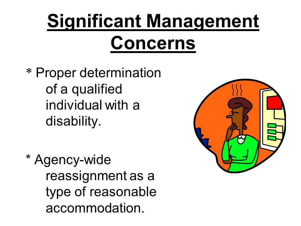 Significant Management Concerns