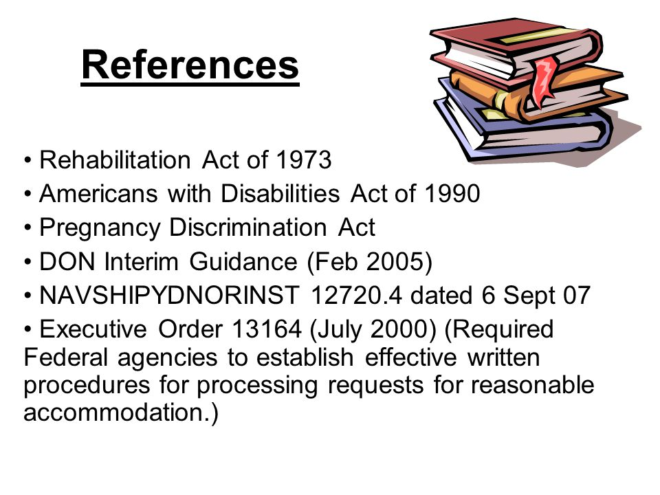 References Rehabilitation Act of 1973