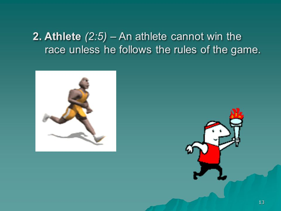 2. Athlete (2:5) – An athlete cannot win the