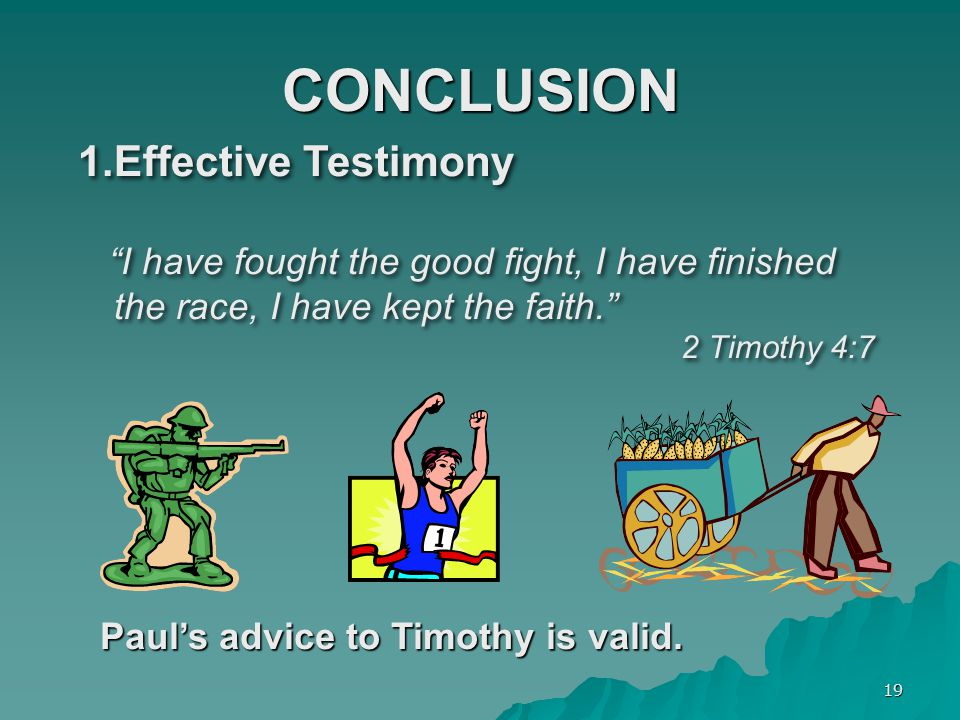 CONCLUSION Effective Testimony