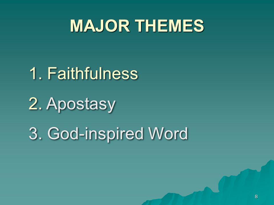 MAJOR THEMES Faithfulness Apostasy God-inspired Word