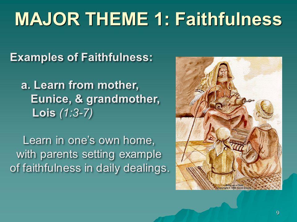 MAJOR THEME 1: Faithfulness