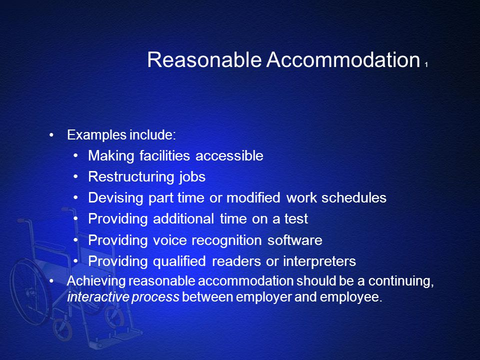 Reasonable Accommodation 1