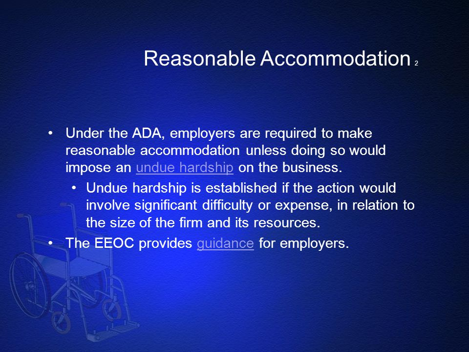 Reasonable Accommodation 2