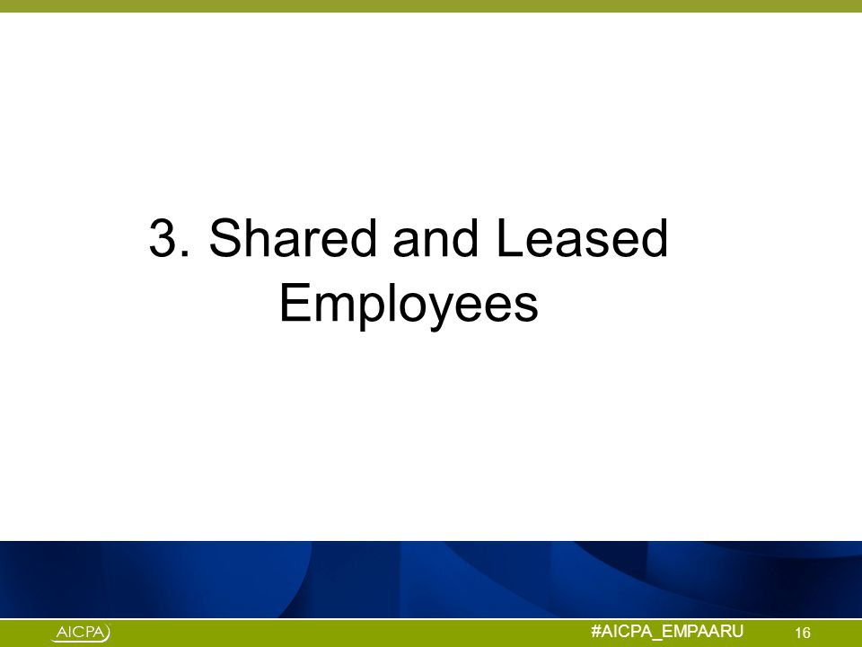 3. Shared and Leased Employees