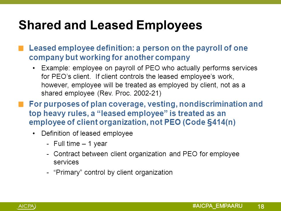 Shared and Leased Employees