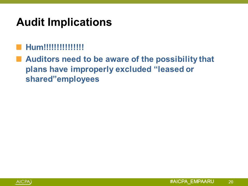 Audit Implications Hum!!!!!!!!!!!!!!!