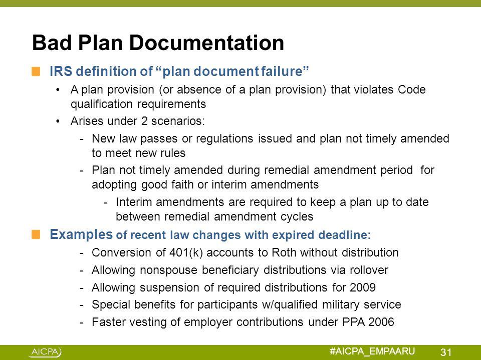 Bad Plan Documentation