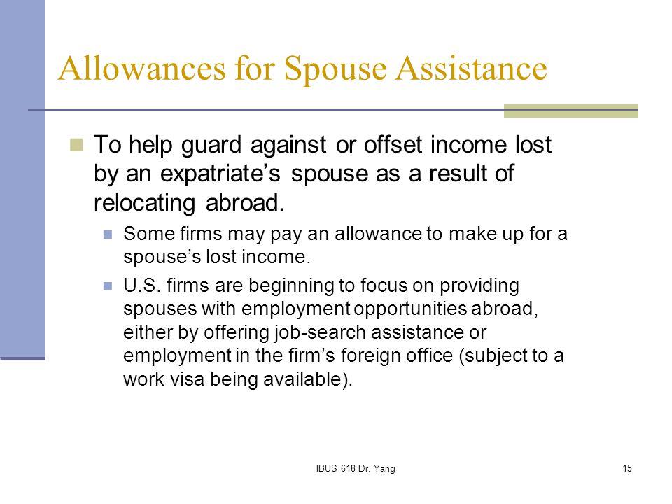 Allowances for Spouse Assistance