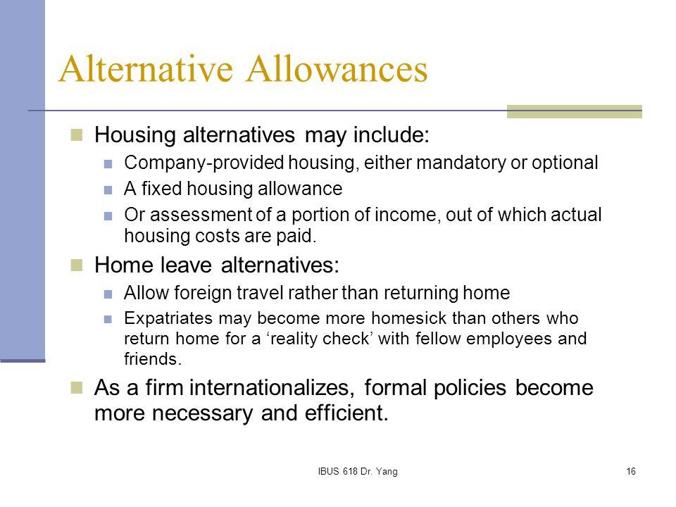 Alternative Allowances