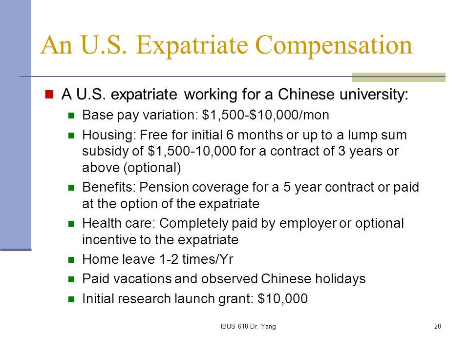 An U.S. Expatriate Compensation