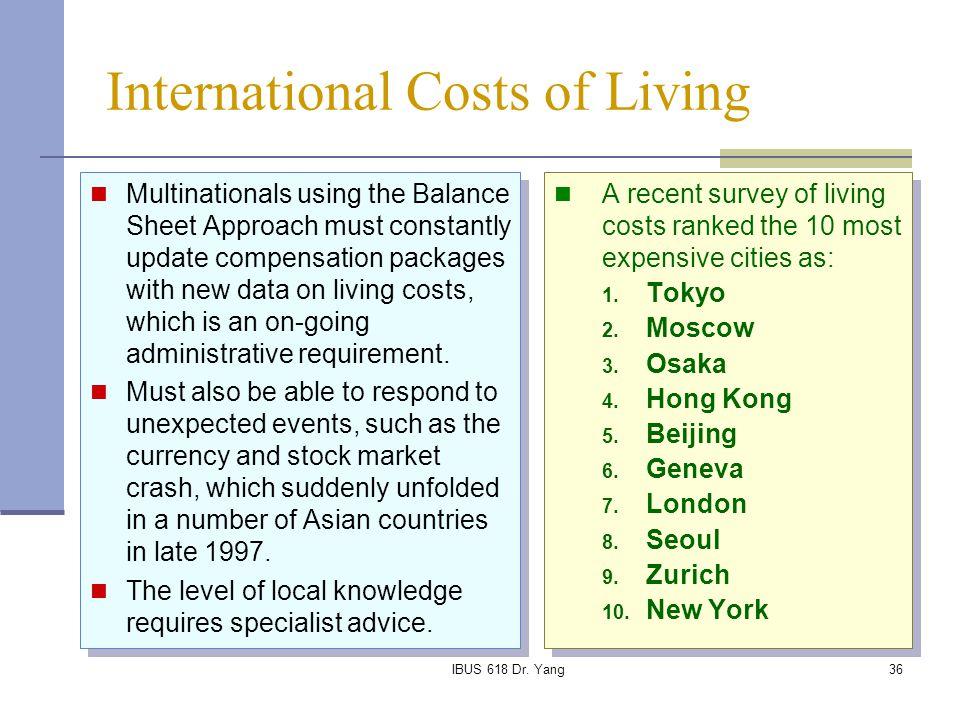 International Costs of Living
