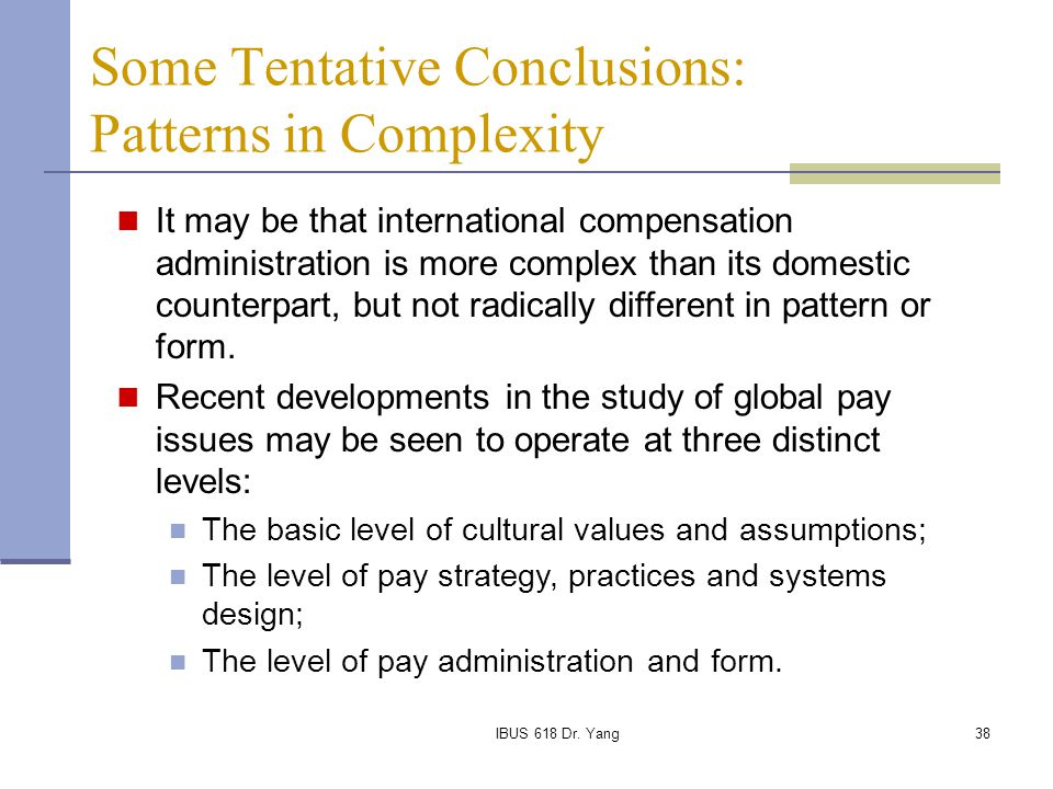 Some Tentative Conclusions: Patterns in Complexity