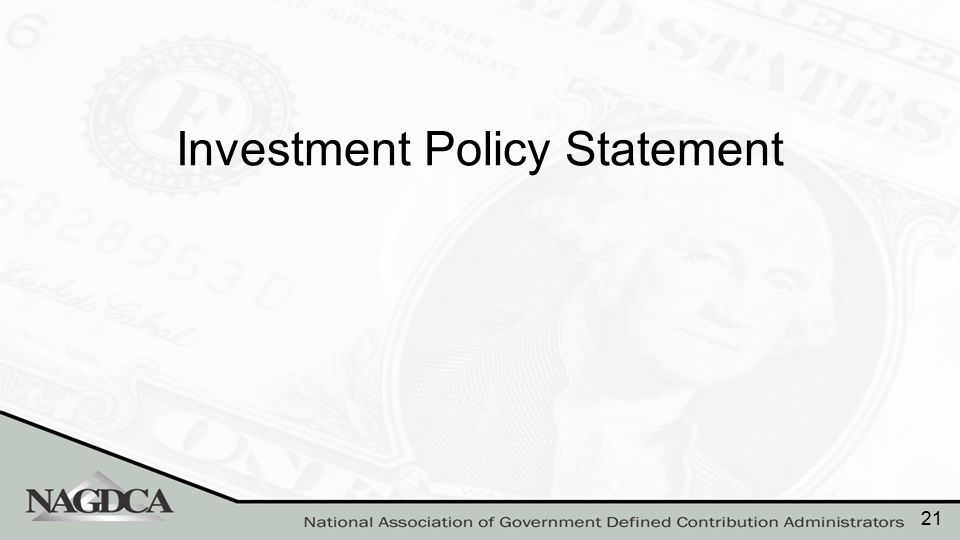 Investment Policy Statement (IPS) as a Roadmap