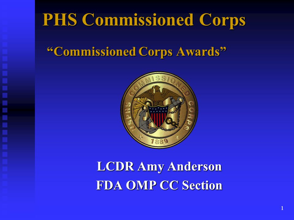 PHS Commissioned Corps Commissioned Corps Awards