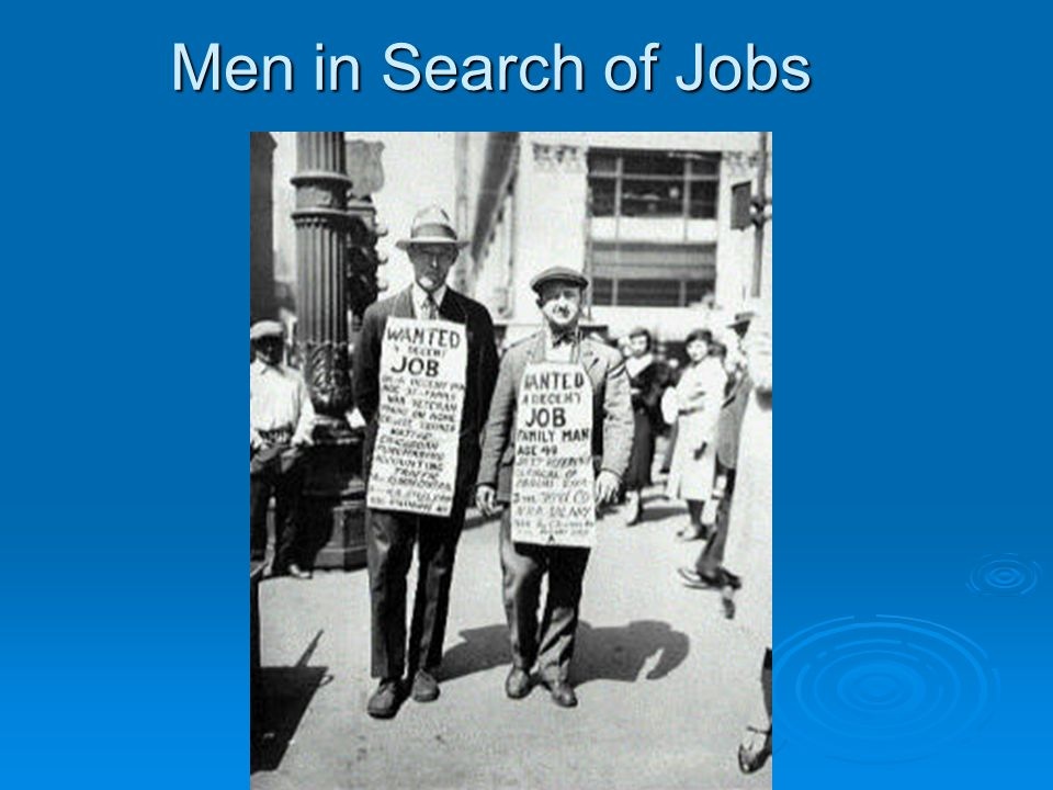 Men in Search of Jobs
