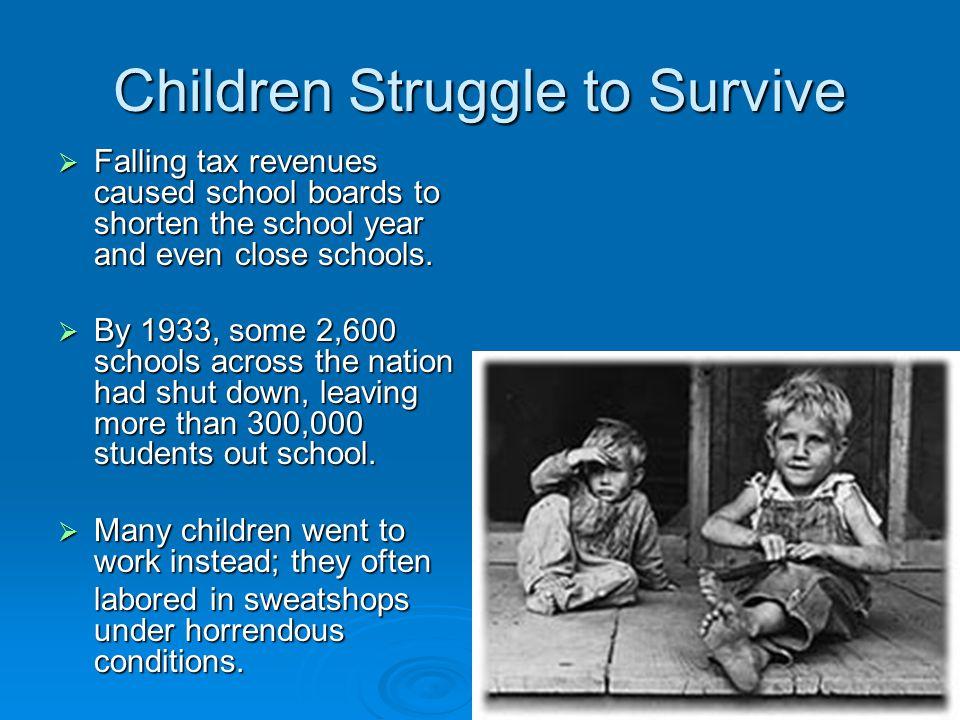 Children Struggle to Survive