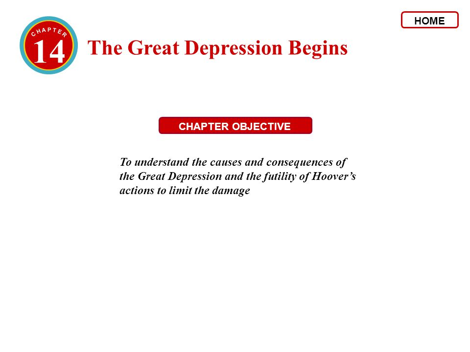 14 The Great Depression Begins