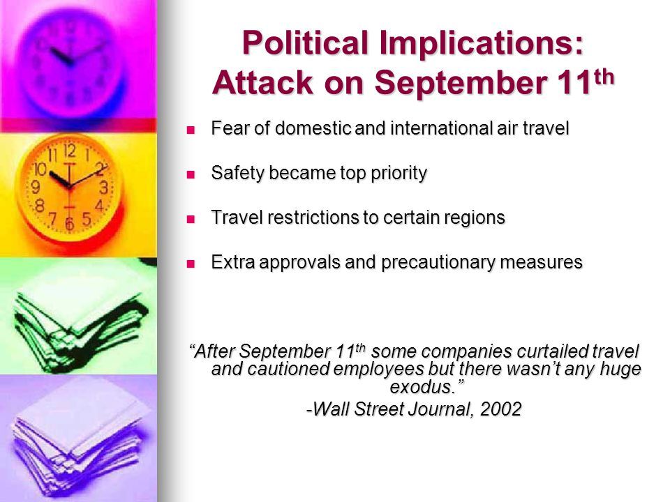 Political Implications: Attack on September 11th