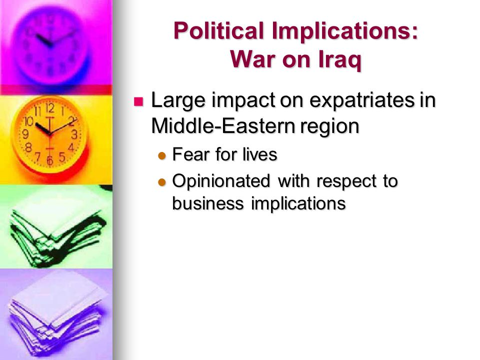 Political Implications: War on Iraq