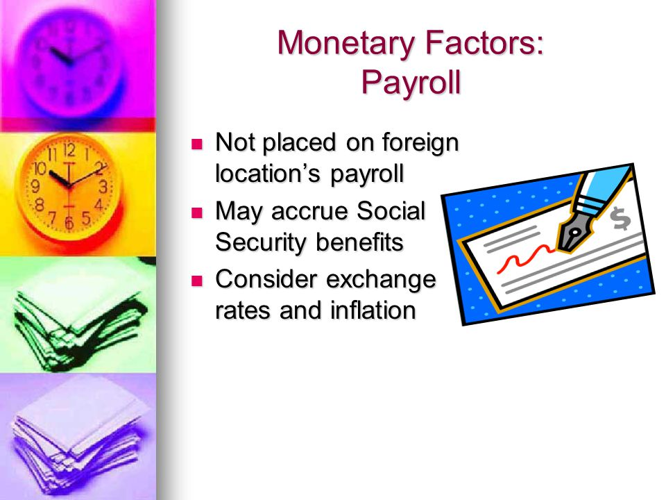 Monetary Factors: Payroll