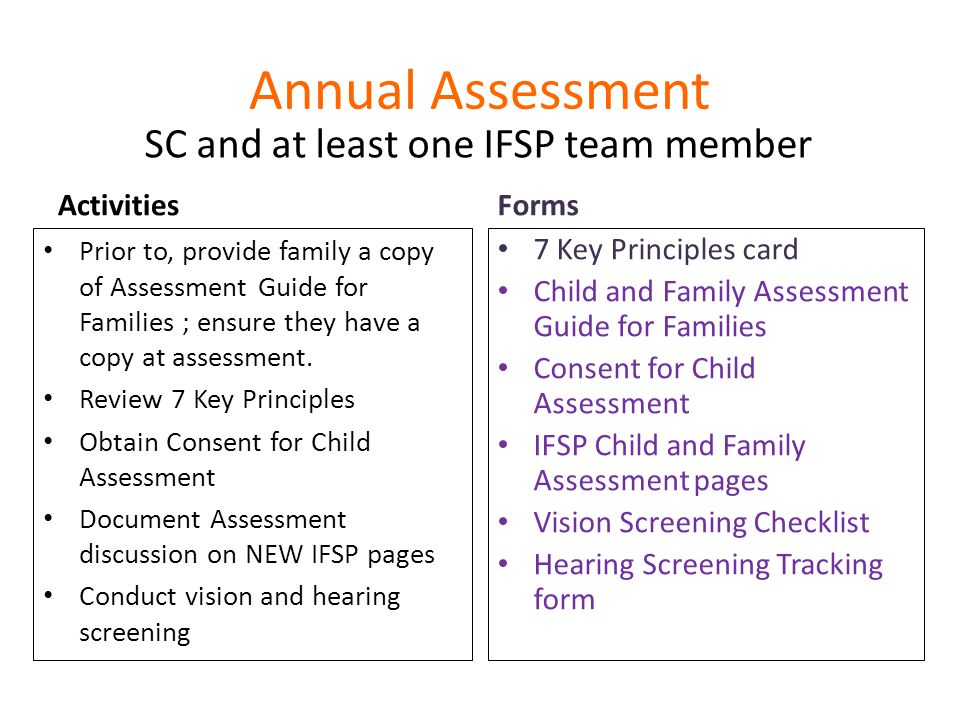 SC and at least one IFSP team member