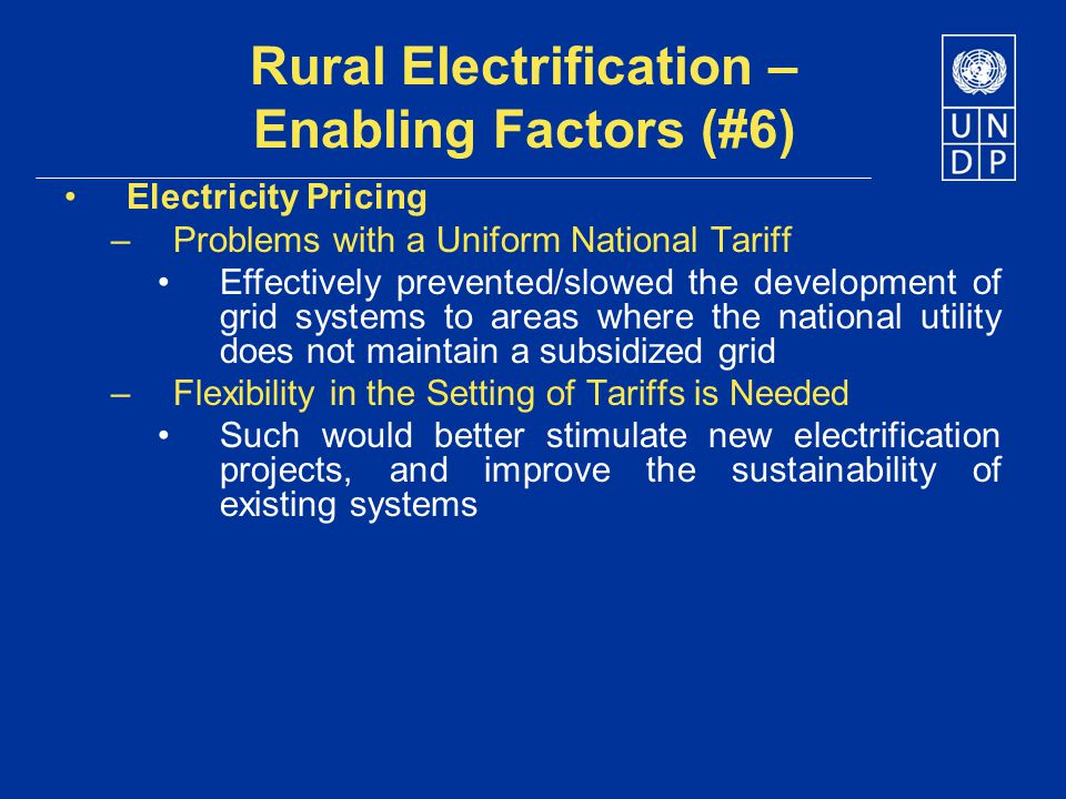 Rural Electrification – Enabling Factors (#6)
