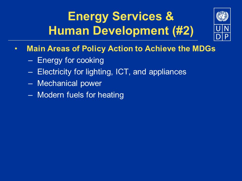 Energy Services & Human Development (#2)