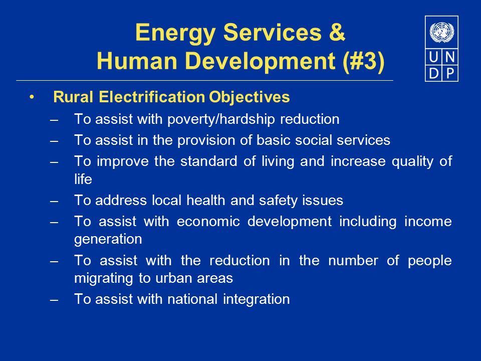 Energy Services & Human Development (#3)