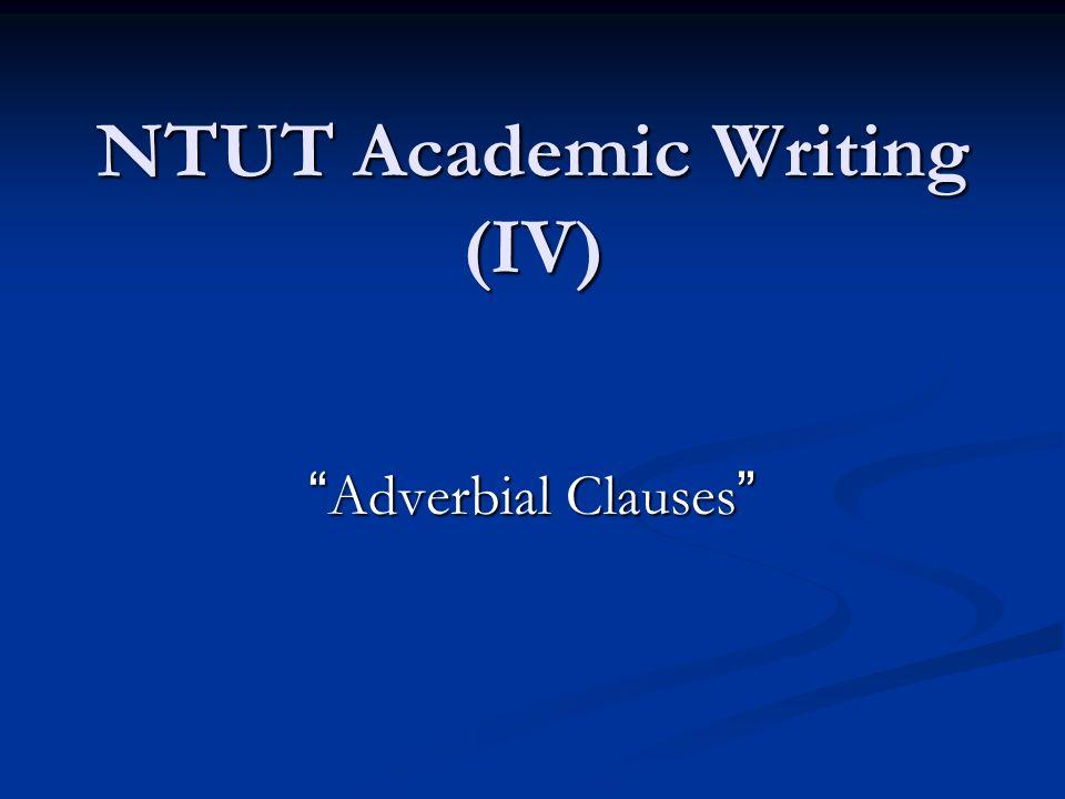 NTUT Academic Writing (IV)