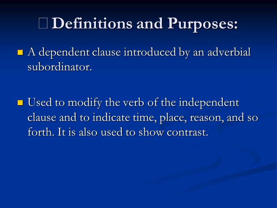 ※Definitions and Purposes: