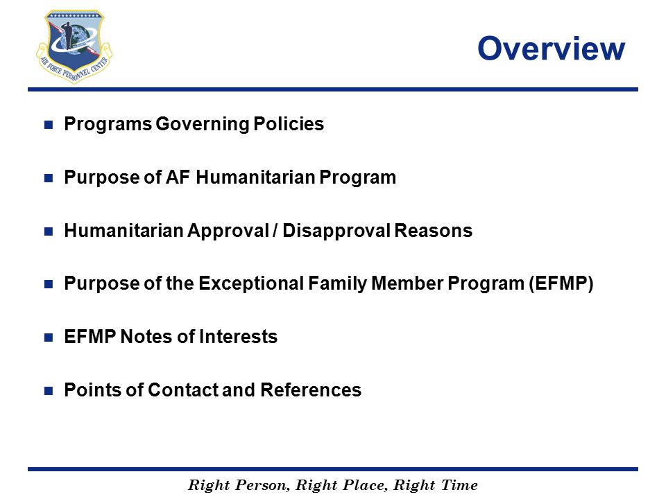 Overview Programs Governing Policies