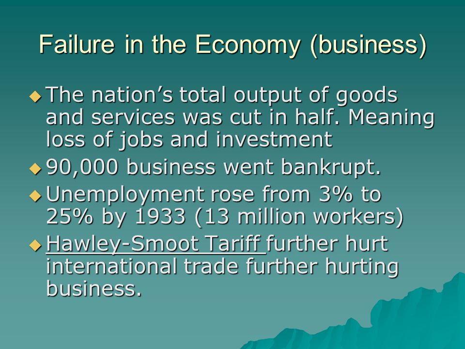 Failure in the Economy (business)