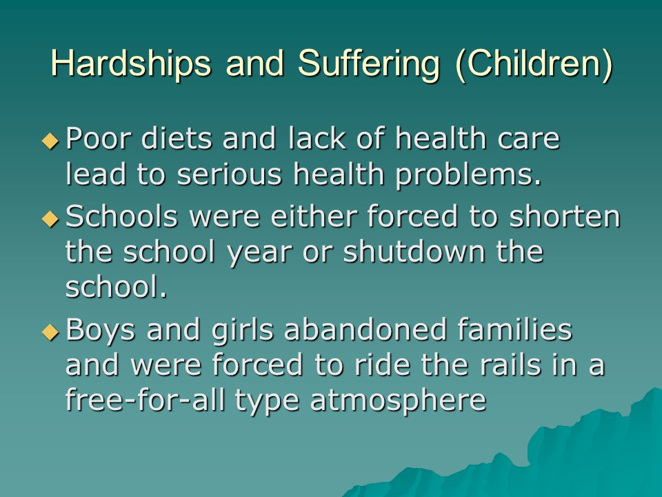 Hardships and Suffering (Children)