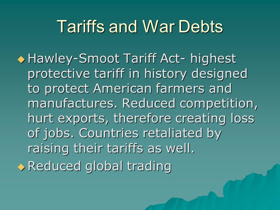 Tariffs and War Debts
