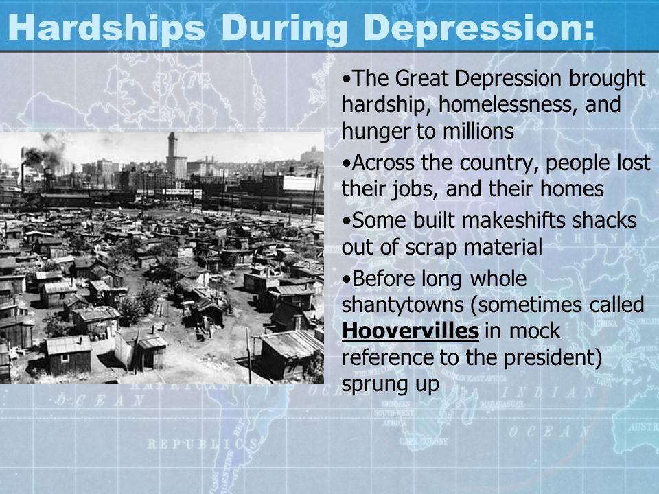 Hardships During Depression: