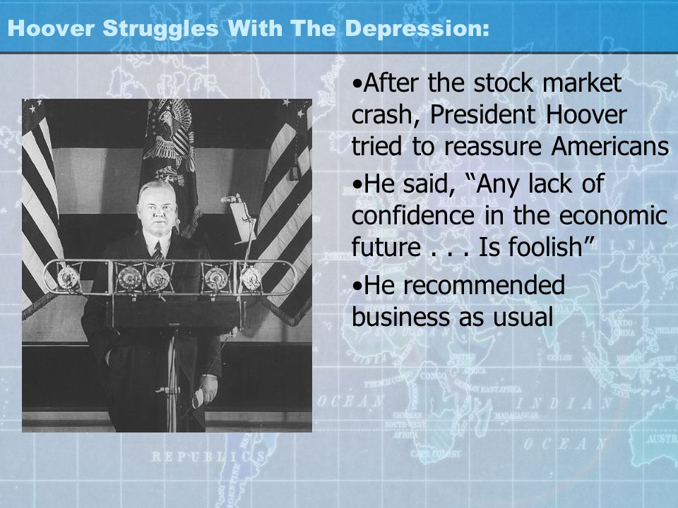 Hoover Struggles With The Depression: