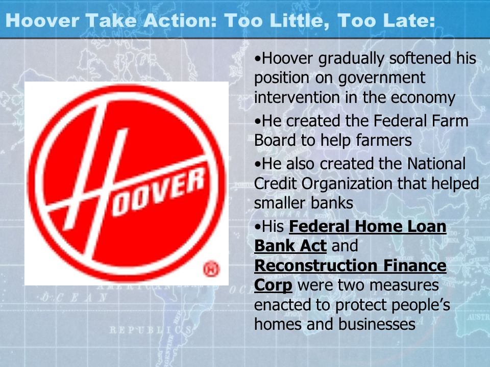 Hoover Take Action: Too Little, Too Late: