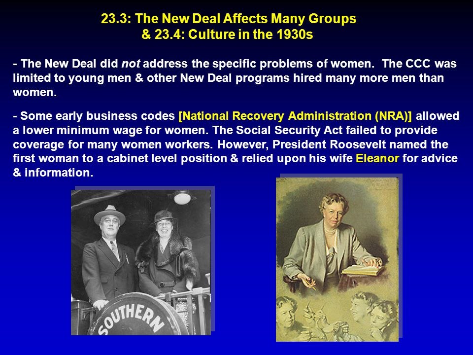 23.3: The New Deal Affects Many Groups