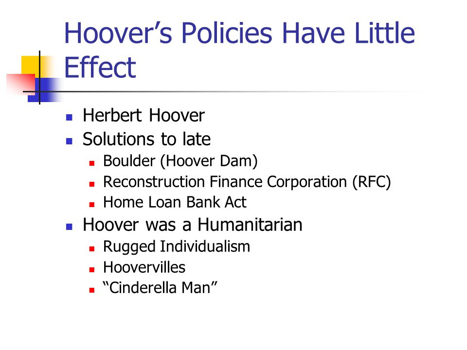 Hoover's Policies Have Little Effect